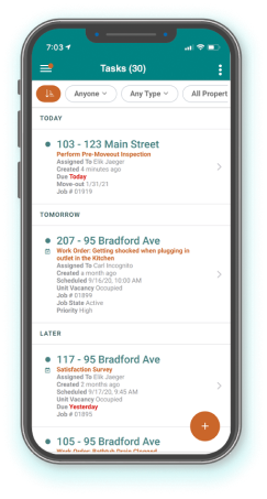 Mobile - tasks list