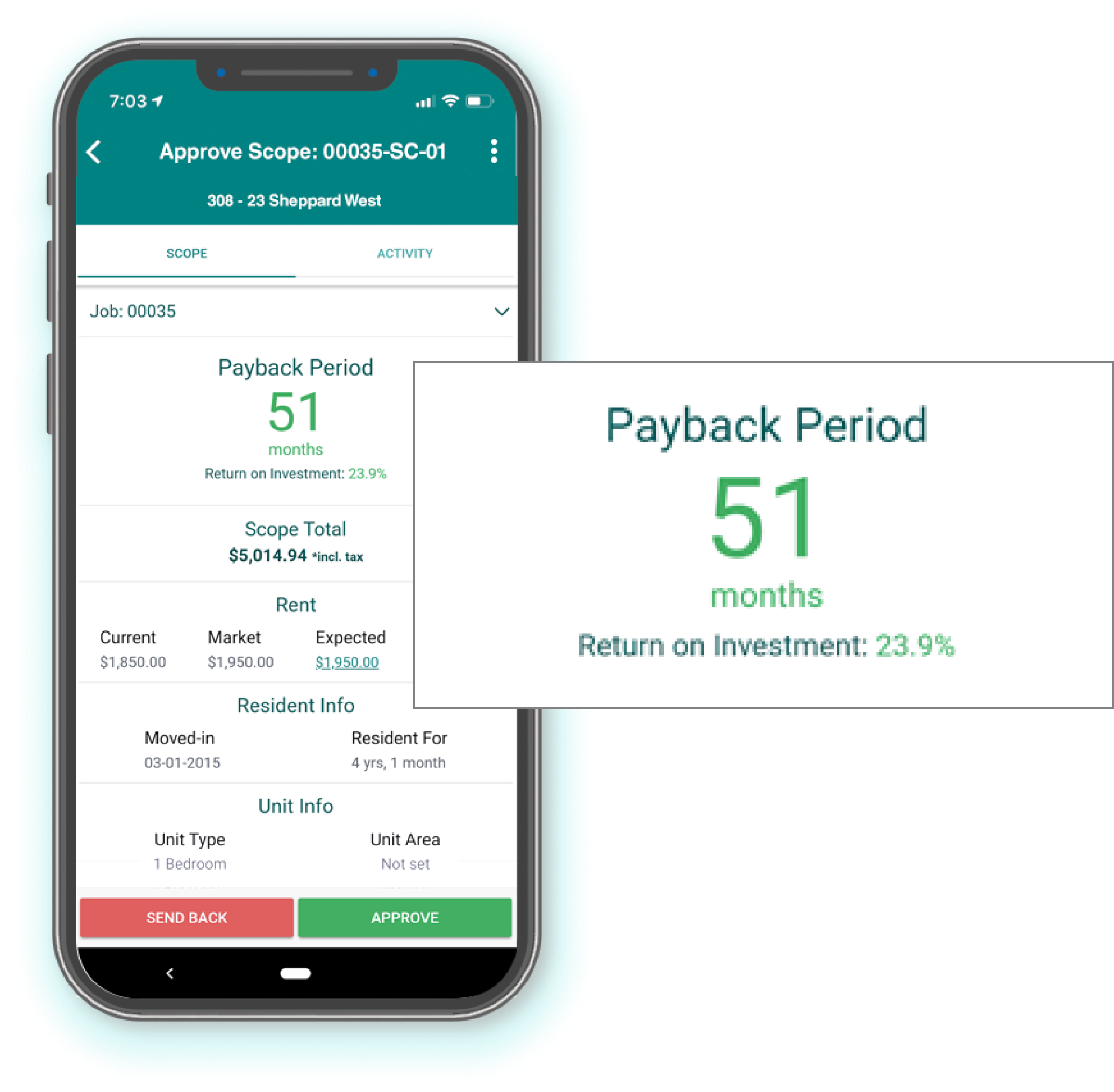 Mobile - approve scope and payback period
